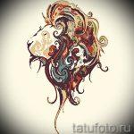 эскизы тату льва для девушки - рисунки для татуировки от 29042916 10
