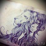 эскизы тату льва для девушки - рисунки для татуировки от 29042916 2