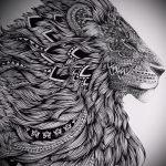 эскизы тату льва для девушки - рисунки для татуировки от 29042916 4