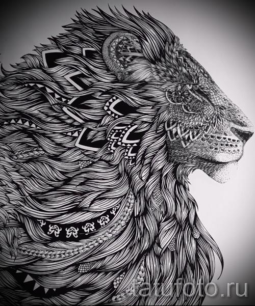 татуировки фото льва