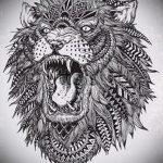 эскизы тату льва для девушки - рисунки для татуировки от 29042916 7