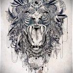 эскизы тату льва для девушки - рисунки для татуировки от 29042916 8