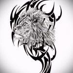 эскизы тату льва для девушки - рисунки для татуировки от 29042916 9