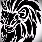 эскизы тату льва для мужчин - рисунки для татуировки от 29042916 1