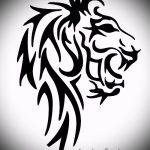 эскизы тату льва для мужчин - рисунки для татуировки от 29042916 2