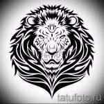 эскизы тату льва для мужчин - рисунки для татуировки от 29042916 6
