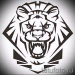 эскизы тату льва для мужчин - рисунки для татуировки от 29042916 8