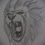 эскизы тату льва на ноге - рисунки для татуировки от 29042916 11