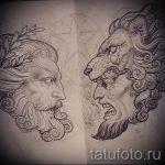 эскизы тату льва на ноге - рисунки для татуировки от 29042916 13