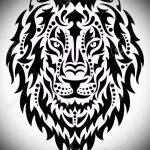 эскизы тату льва на ноге - рисунки для татуировки от 29042916 15