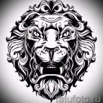 эскизы тату льва на ноге - рисунки для татуировки от 29042916 17