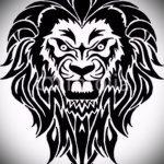 эскизы тату льва на ноге - рисунки для татуировки от 29042916 18