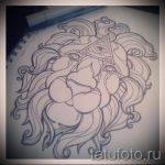 эскизы тату льва на ноге - рисунки для татуировки от 29042916 2