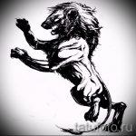 эскизы тату льва на ноге - рисунки для татуировки от 29042916 3