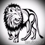 эскизы тату льва на ноге - рисунки для татуировки от 29042916 5