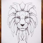 эскизы тату льва на ноге - рисунки для татуировки от 29042916 6