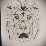 эскизы тату льва на ноге - рисунки для татуировки от 29042916 7
