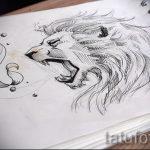 эскизы тату льва на ноге - рисунки для татуировки от 29042916 8