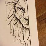 эскизы тату льва на ноге - рисунки для татуировки от 29042916 9