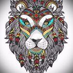 эскизы тату льва на руке - рисунки для татуировки от 29042916 10