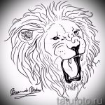 эскизы тату льва на руке - рисунки для татуировки от 29042916 4