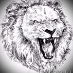 эскизы тату льва на руке - рисунки для татуировки от 29042916 6