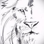 эскизы тату льва на руке - рисунки для татуировки от 29042916 7