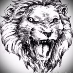 эскизы тату льва на руке - рисунки для татуировки от 29042916 9
