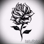 эскизы тату роза для девушек 1