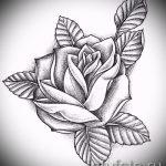эскизы тату роза для девушек 2