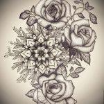 эскизы тату роза для девушек 3