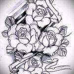 эскизы тату роза для девушек 4