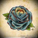 эскизы тату розы цветные - смотреть прикольную картинку 1