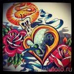 эскизы тату розы цветные - смотреть прикольную картинку 10