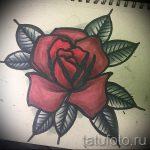 эскизы тату розы цветные - смотреть прикольную картинку 12