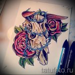 эскизы тату розы цветные - смотреть прикольную картинку 13