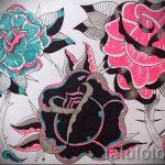 эскизы тату розы цветные - смотреть прикольную картинку 14