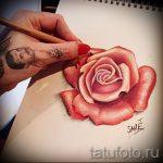 эскизы тату розы цветные - смотреть прикольную картинку 17