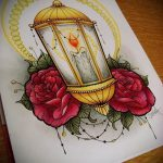 эскизы тату розы цветные - смотреть прикольную картинку 20