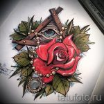 эскизы тату розы цветные - смотреть прикольную картинку 21
