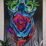 эскизы тату розы цветные - смотреть прикольную картинку 3