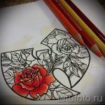 эскизы тату розы цветные - смотреть прикольную картинку 5