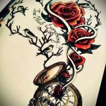 эскизы тату розы цветные - смотреть прикольную картинку 6