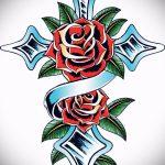 эскизы тату розы цветные - смотреть прикольную картинку 7
