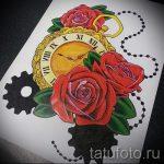 эскизы тату розы цветные - смотреть прикольную картинку 8