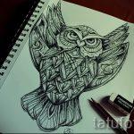 эскизы тату совы на предплечье 3