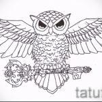 эскизы тату совы на предплечье 6