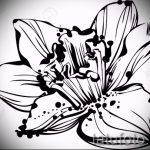 эскизы тату цветов черно белые - рисунки от 26-04-2016 2