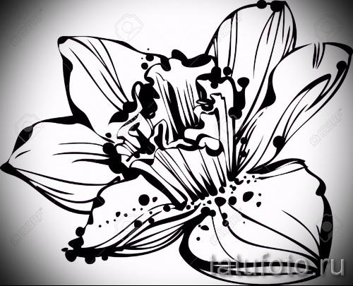 Фото цветы эскизы черно белые