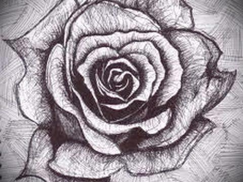 эскизы тату цветов черно белые - рисунки от 26-04-2016 3